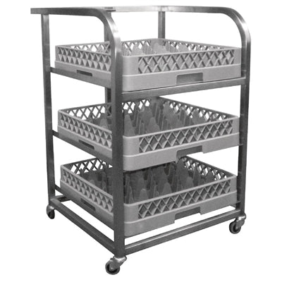 Craven Stainless Steel Glass Tray Trolley