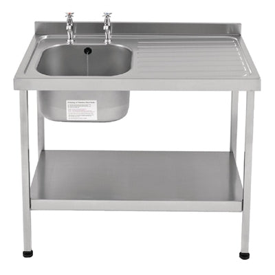 Franke Sissons Self Assembly Stainless Steel Sink Right Hand Drainer 1000x600mm