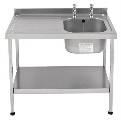 Franke Sissons Stainless Steel Sink Left Hand Drainer 1200x600mm