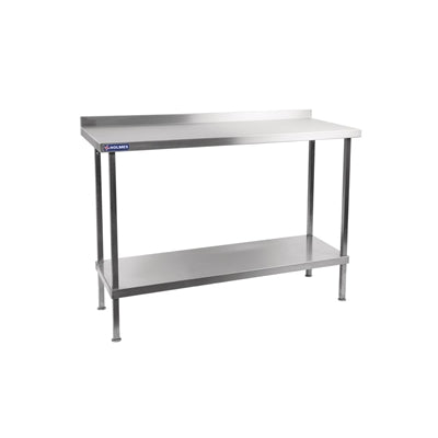 Holmes Stainless Steel Wall Table with Upstand 700(D)mm