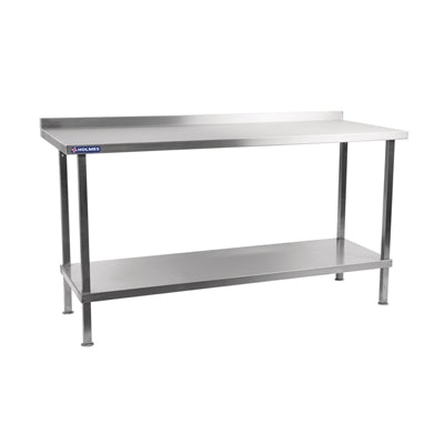 Holmes Stainless Steel Wall Table with Upstand 650(D)mm
