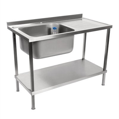 Holmes Stainless Steel Sink Right Hand Drainer Flat Packed
