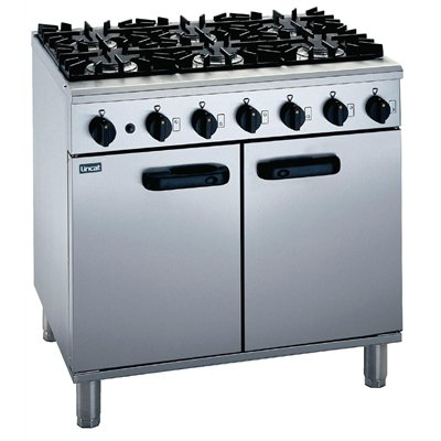 Lincat Medium Duty 6 Burner Natural Gas Oven Range LMR9/N
