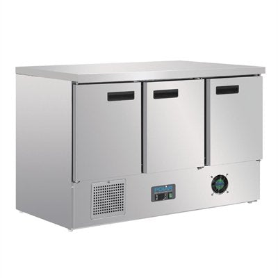 Polar 3 Door Counter Fridge 368Ltr