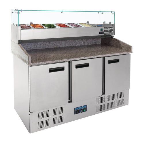 Polar Refrigerated Pizza and Salad Prep Counter 368Ltr
