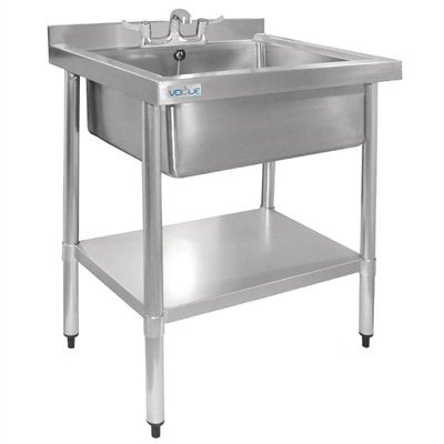 Stainless Steel Midi Pot Wash Sink with Undershelf