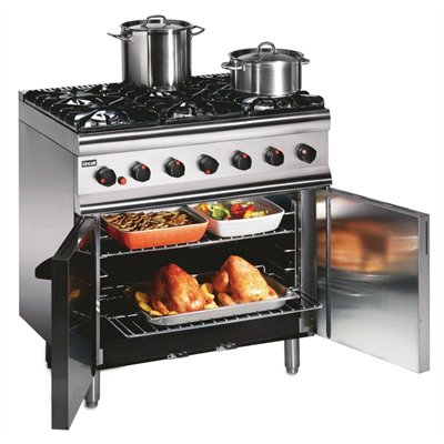 Lincat Silverlink 600 Propane Gas 6 Burner Range with Rear Castors SLR9C/P