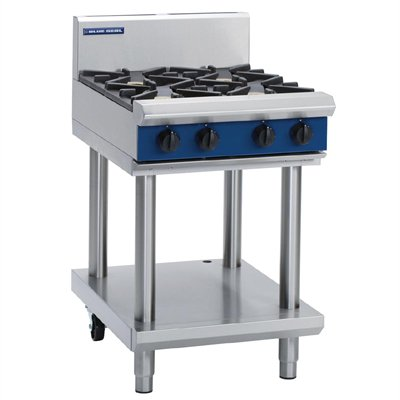 Blue Seal Evolution Cooktop 4 Open Burners on Stand 600mm