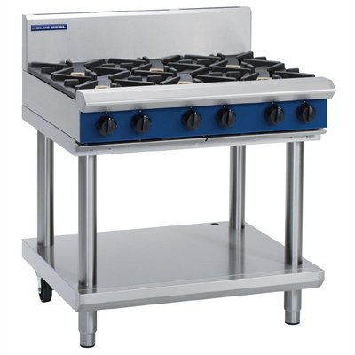 Blue Seal Evolution Cooktop 6 Open Burners on Stand 900mm