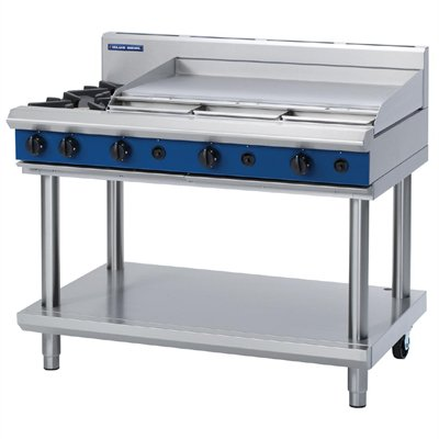 Blue Seal Evolution Cooktop 2 Open/1 Griddle Burner on Stand 1200mm