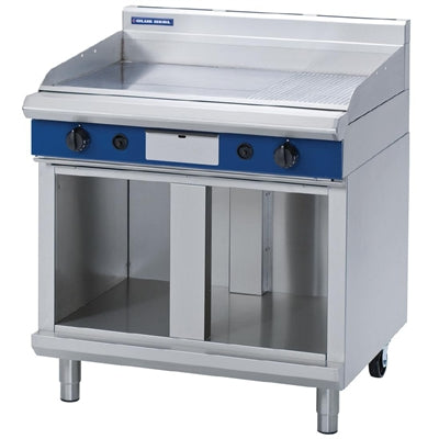 Blue Seal Evolution Chrome 1/3 Ribbed Griddle with Cabinet Base 900mm