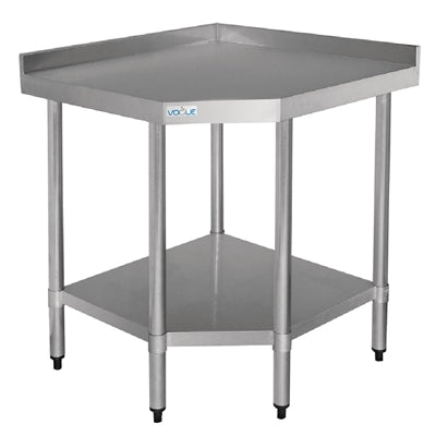 Vogue Stainless Steel Corner Table 700mm