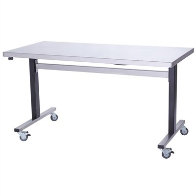 Parry Stainless Steel Adjustable Height Table 750(D)mm
