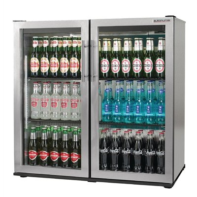 Autonumis Popular 2 Hinged Door Maxi Back Bar Cooler St/St A210107