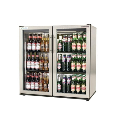 Autonumis EcoChill Double Hinged Door Maxi Back Bar Cooler, St/St A210106