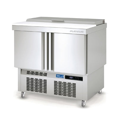 Lec 2 Door Saladette Counter with Lidded Topping Unit