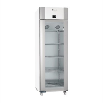Gram Eco Plus 1 Glass Door 610Ltr Fridge White