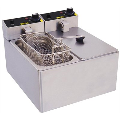 Buffalo Double Tank Countertop Fryer 2 x 3Ltr