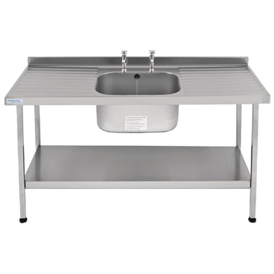 Franke Sissons Self Assembly Stainless Steel Sink Double Drainer 1800x650mm