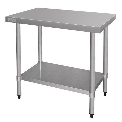 Vogue Ultra Heavy Duty Stainless Steel Table Without Upstand 1500mm x 600mm *Free Delivery*