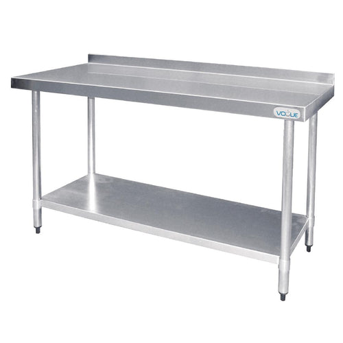 Vogue Heavy Duty Stainless Steel Table with Upstand 600mm x 1500mm