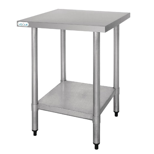 Vogue Ultra Heavy Duty Stainless Steel Table Without Upstand 600mm x 600mm *Free Delivery*