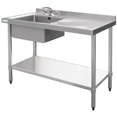 Stainless Steel Sink Right Hand Drainer 1000x600mm