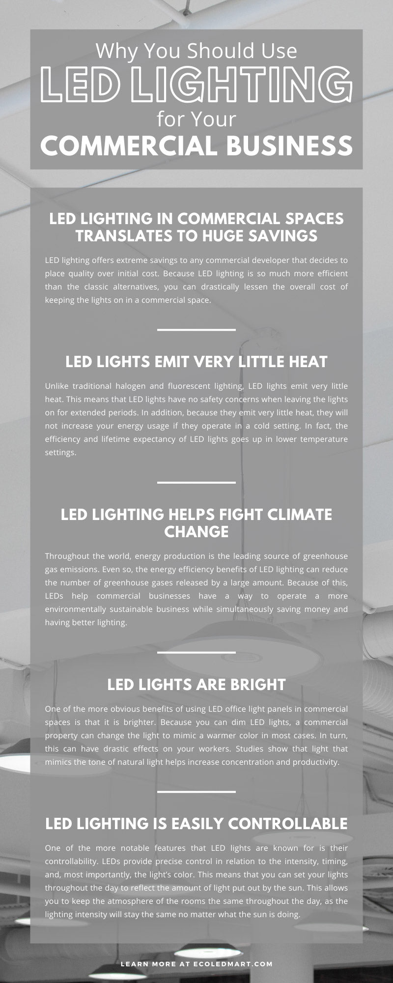 Why You Should Use LED Lighting for Your Commercial Business