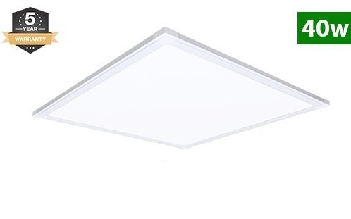 2x2 LED Flat Panel, 40W, 5000 Lumens, Dimmable, 6500K
