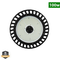 LED UFO High Bay, 100W, Hook Mount, Warehouse Lighting, 14,500 Lumens, 5000K