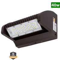LED Rotatable Wall Pack, 40W, 5700K, 5,000 Lumens