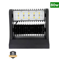 LED Rotatable Wall Pack, 80W, 5000K, 10,720 Lumens