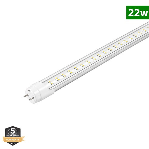 T8 4FT LED Tube light, 22W, Bypass Ballast, Double Ended Power, 5000K & 6500K