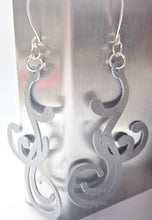 Flourish Scroll Earrings - Grey