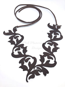 Flourish Necklace - Brown