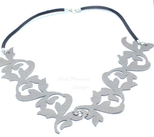 Flourish Necklace - Grey