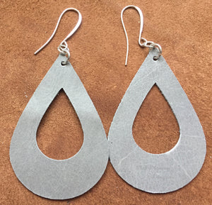 Teardrop Earrings - Grey