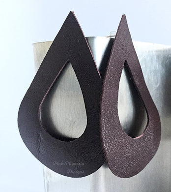 Teardrop Earrings - Dark Brown