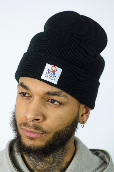 Athlete Beanie Black