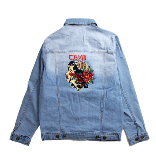 Gypsy Girl Embroidered Denim Jacket