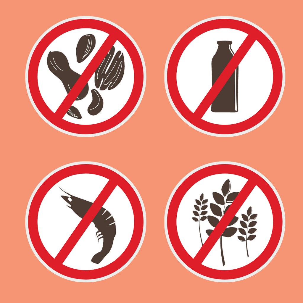 some common allergens in an infographic