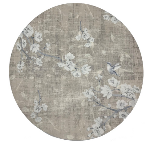 BLOSSOM FANTASIA PLACEMAT | FRENCH GRAY