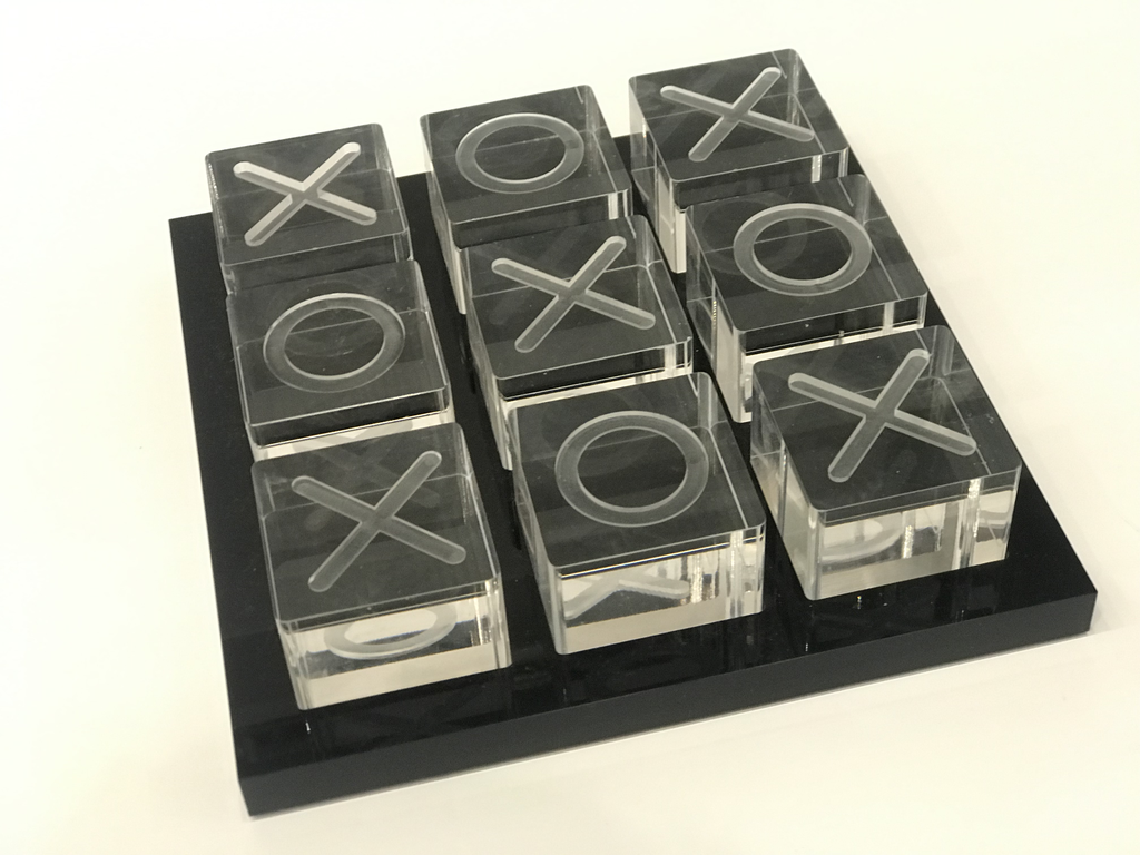 ACRYLIC TIC TAC TOE SET | BLACK & CLEAR