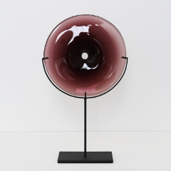 VERA GLASS DISC OBJECT | PLUM