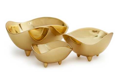 FOOTED DECO BOWL | SMALL | AERIN