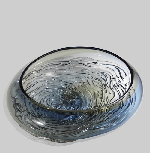 WAVE BOWL | BLUE & GRAY