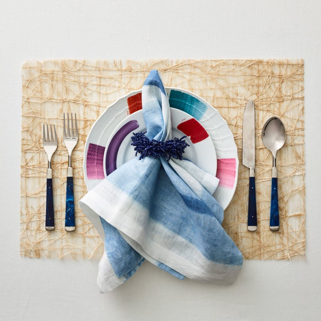 HORIZON NAPKIN | WHITE/BLUE