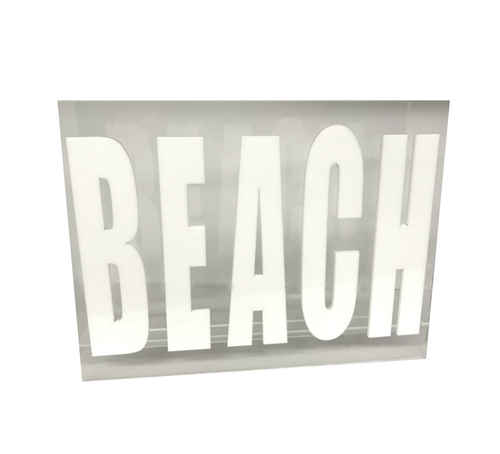 MAGAZINE RACK | BEACH | WHITE