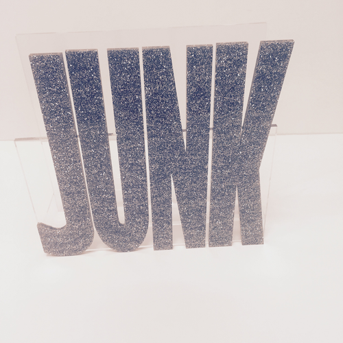 MAIL HOLDER | JUNK | ACRYLIC SILVER GLITTER