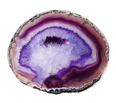 AGATE COASTERS | PURPLE